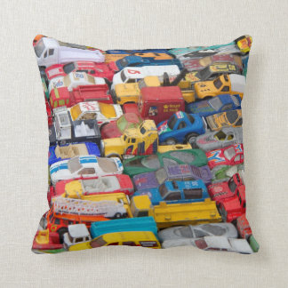 Toy Cars and Vehicles American Mojo Pillow/Cushion Throw Pillow