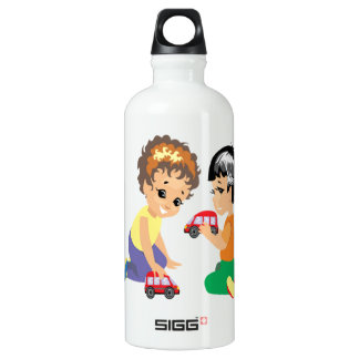 Toy Cars Water Bottle