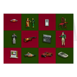Toy Chess Christmas card