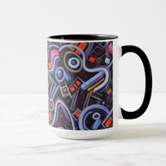 Toy Chest Playful Geometric Abstract Mug