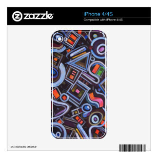 Toy Chest Playful Geometric Abstract Skins For iPhone 4S