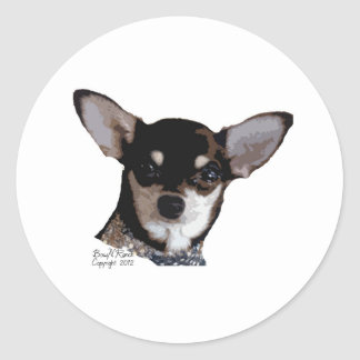 Toy Chihuahua Black and Tan Classic Round Sticker