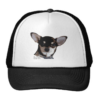 Toy Chihuahua Black and Tan Trucker Hat