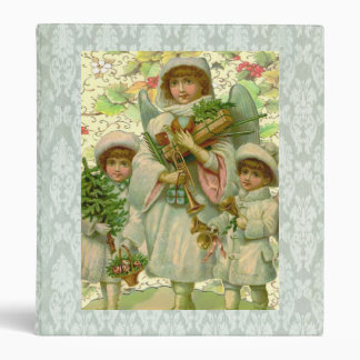 Toy Christmas Angel 3 Ring Binder