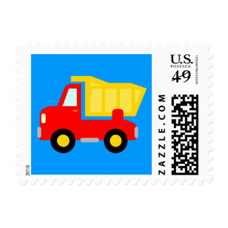 Toy construction dump truck illustration stamps