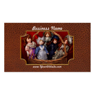Toy - Dolls - A basket of Victorian dolls  Business Cards