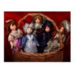 Toy - Dolls - A basket of Victorian dolls  Postcards