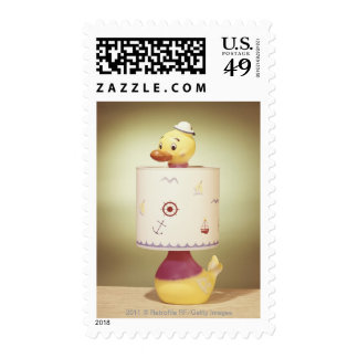 Toy duck lamp postage stamps