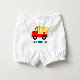 Toy dump truck diaper cover for baby boy