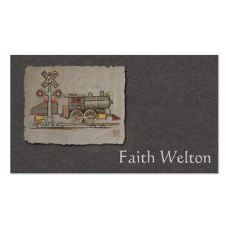 Toy Electric Train Double-Sided Standard Business Cards (Pack Of 100)