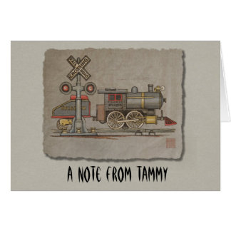 Toy Electric Train Greeting Card
