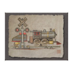 Toy Electric Train Gallery Wrapped Canvas