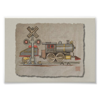 Toy Electric Train Art Photo