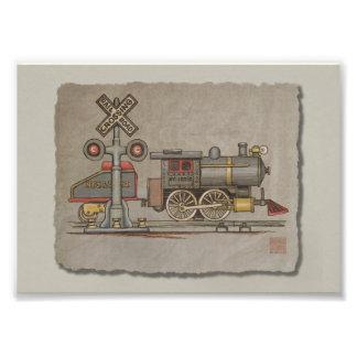 Toy Electric Train Art Photo