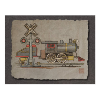 Toy Electric Train Postcard