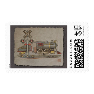 Toy Electric Train Stamps