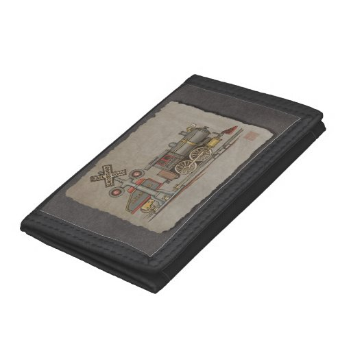 Toy Electric Train Trifold Wallets