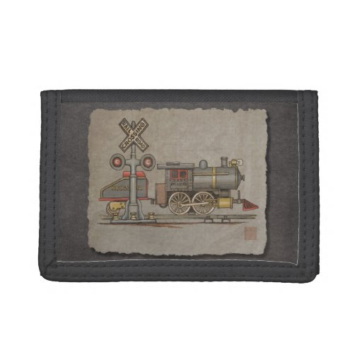 Toy Electric Train Tri-fold Wallets
