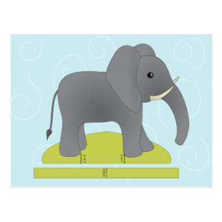 Toy Elephant Post Card