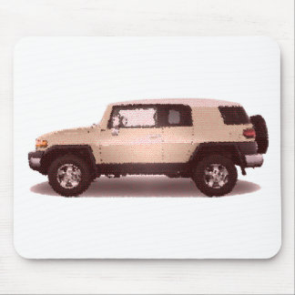 Toy FJ Cruiser cracked Mouse Pad