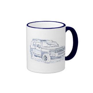 Toy FJ Cruiser Ringer Coffee Mug