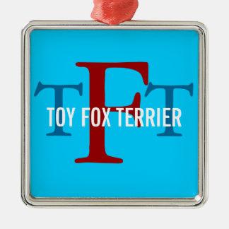 Toy Fox Terrier Breed Monogram Christmas Ornaments