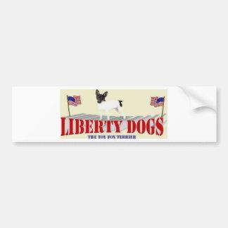 Toy Fox Terrier Car Bumper Sticker