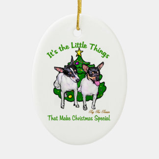 Toy Fox Terrier Christmas Gifts Ornaments