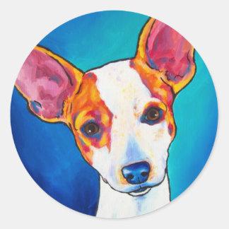Toy Fox Terrier Classic Round Sticker