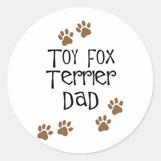 Toy Fox Terrier Dad Classic Round Sticker