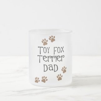 Toy Fox Terrier Dad Frosted Glass Coffee Mug