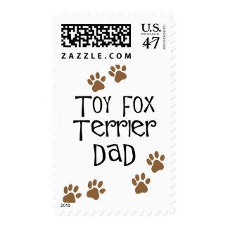 Toy Fox Terrier Dad Postage