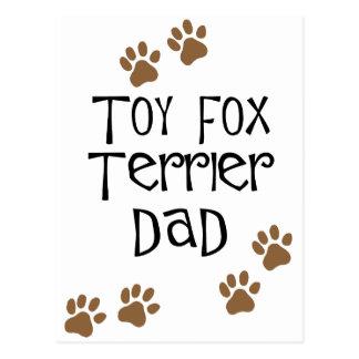 Toy Fox Terrier Dad Postcard