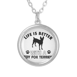 Toy Fox Terrier dog breed designs Pendant