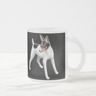 Toy Fox Terrier Frosted Glass Mug