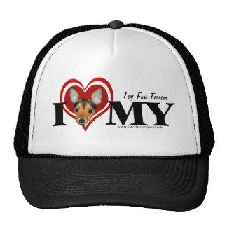 Toy Fox Terrier Heart Hat