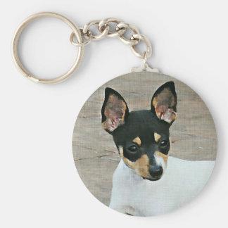 Toy Fox Terrier Keychain