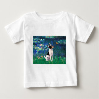 Toy Fox Terrier - Lilies 5 Baby T-Shirt