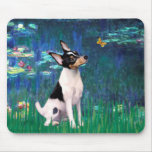 Toy Fox Terrier - Lilies 5 Mouse Pads