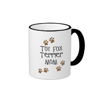 Toy Fox Terrier Mom Ringer Coffee Mug