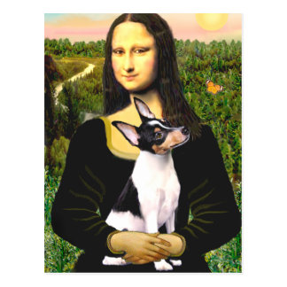 Toy Fox Terrier - Mona Lisa Postcard