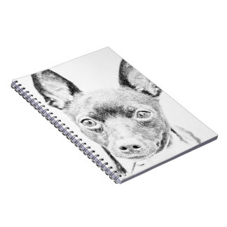 Toy Fox Terrier Spiral Note Book