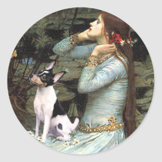 Toy Fox Terrier - Ophelia Seated Classic Round Sticker