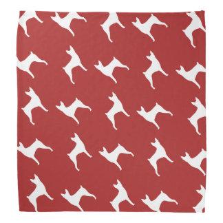 Toy Fox Terrier Silhouettes Pattern Bandana