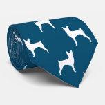 Toy Fox Terrier Silhouettes Pattern Tie