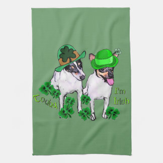 Toy Fox Terrier St Pattys Hand Towel