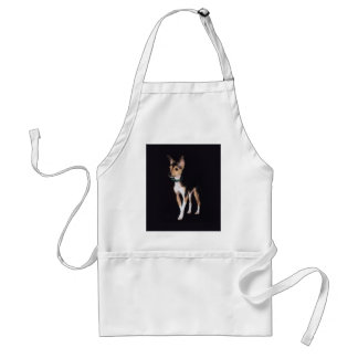 Toy Fox Terrier Standing Apron