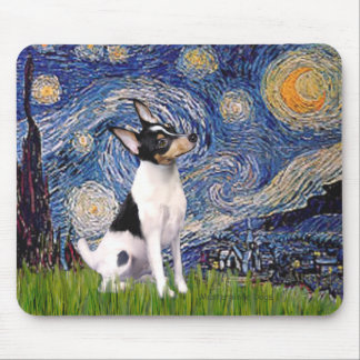 Toy Fox Terrier - Starry Night Mouse Pad