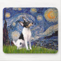 Toy Fox Terrier Starry Night mousepad