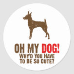 Toy Fox Terrier Stickers